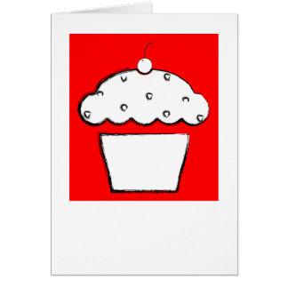 grunge cherry cupcake card