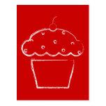 grunge cherry cupcake post cards