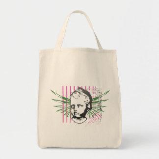 Grunge Cherub Winged Head Tote Bag