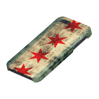 Grunge Chicago Flag iPhone 5 Cover