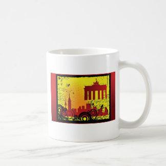 Grunge city coffee mugs