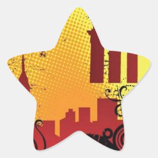 Grunge city star stickers