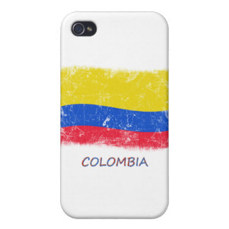 Grunge Colombia Flag Case For The iPhone 4