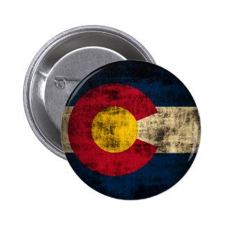Grunge Colorado Flag Buttons