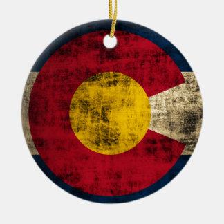 Grunge Colorado Flag Ornament