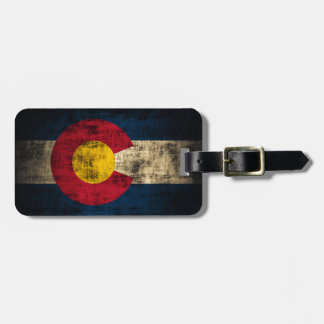 Grunge Colorado Flag Luggage Tag