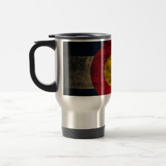 Grunge Colorado Flag Stainless Steel Travel Mug