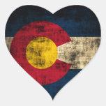 Grunge Colorado Flag Stickers