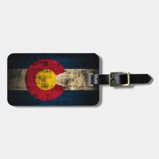 Grunge Colorado Flag Tag For Luggage