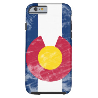 Grunge Colorado State Flag Tough iPhone 6 Case