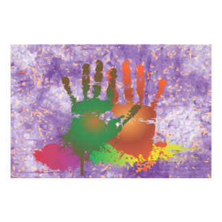 Grunge Colorful Hands Photo Print