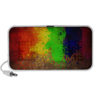 Grunge Colorful Paint Splatter Portable Speakers