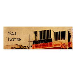 grunge construction business card template