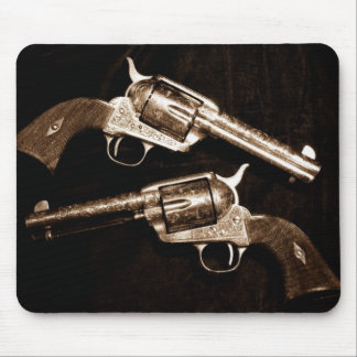 Grunge Cowboy Retro Western Country Pistols Mouse Pad