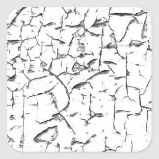 Grunge cracked paint effect square sticker