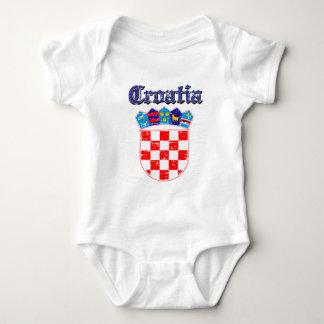Grunge Croatia coat of arms designs Baby Bodysuit