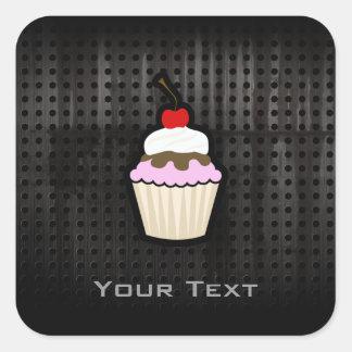 Grunge Cupcake Square Sticker