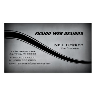 Grunge Curves Business Card, Gray