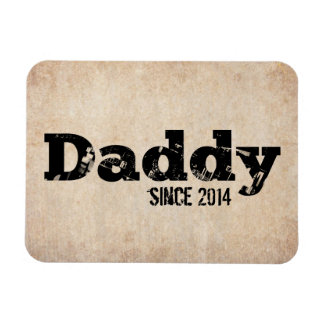 Grunge Daddy Since 2014 Rectangular Photo Magnet