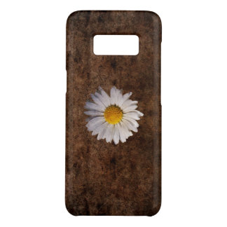 Grunge daisy on a brown background Case-Mate samsung galaxy s8 case