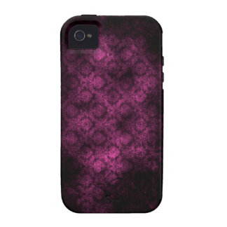 Grunge Damask (Fuschia) iPhone 4 Case For The iPhone 4