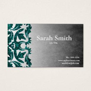 Tattoo salon business cards business card printing zazzle grunge damask glitter business card reheart Choice Image