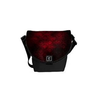 Grunge Damask Mini-Bag (Dark Red) Commuter Bag