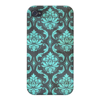 Grunge Damask Pattern iPhone Case iPhone 4/4S Cover