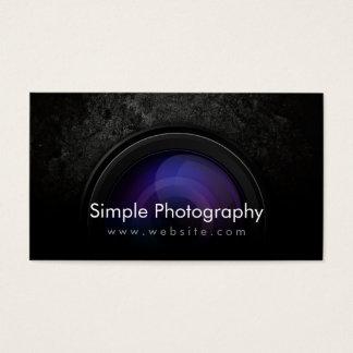 Grunge Dark Camera Lens Photography Business Card