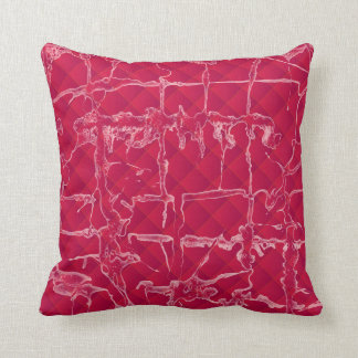 Grunge dark red design cushion