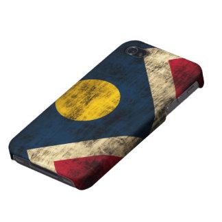 Grunge Denver Colorado Flag Covers For iPhone 4