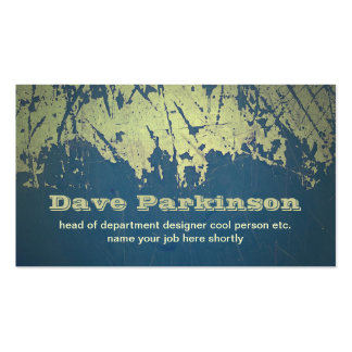 grunge design business card