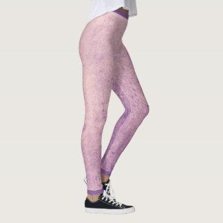 Grunge Design Leggings - Plum