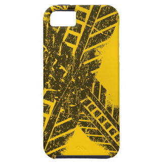 Grunge distressed black tire track road marking iPhone 5 case