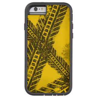 Grunge distressed black tire track road marking tough xtreme iPhone 6 case