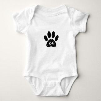 Grunge Distressed Dog Paw K-9 Baby Bodysuit