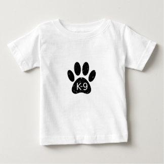 Grunge Distressed Dog Paw K-9 Baby T-Shirt