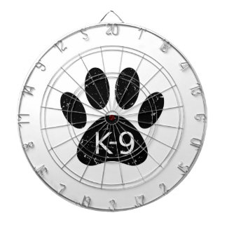 Grunge Distressed Dog Paw K-9 Dartboard