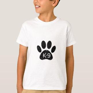 Grunge Distressed Dog Paw K-9 T-Shirt