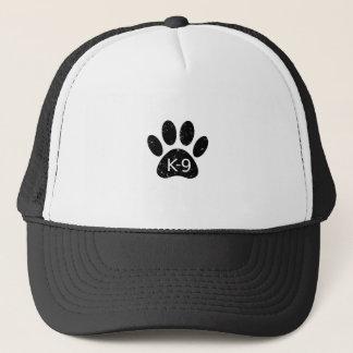 Grunge Distressed Dog Paw K-9 Trucker Hat