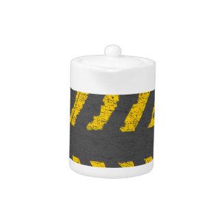 Grunge distressed yellow road marking