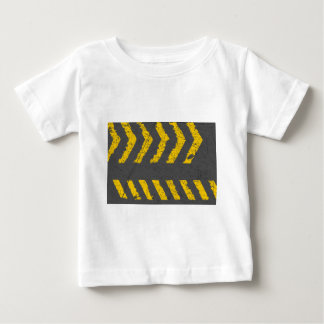 Grunge distressed yellow road marking baby T-Shirt