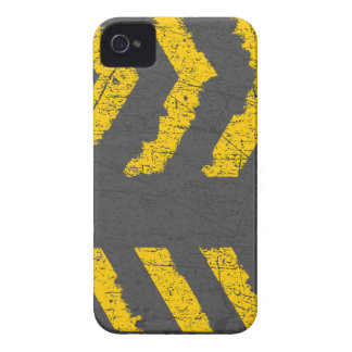 Grunge distressed yellow road marking iPhone 4 Case-Mate cases