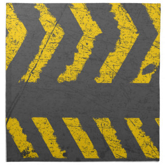 Grunge distressed yellow road marking napkin