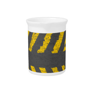Grunge distressed yellow road marking pitcher