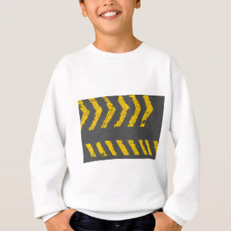 Grunge distressed yellow road marking sweatshirt
