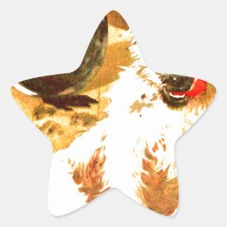 Grunge Dog Star Sticker