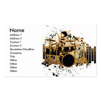 grunge drummer design pack of standard business cards