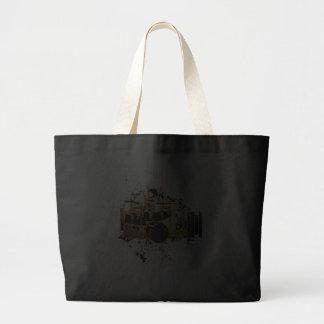 grunge drummer design jumbo tote bag
