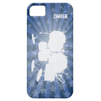 Grunge Drums Blue Burst iPhone 5 Cases